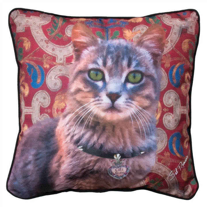 Cats Rule Tabby Pillow