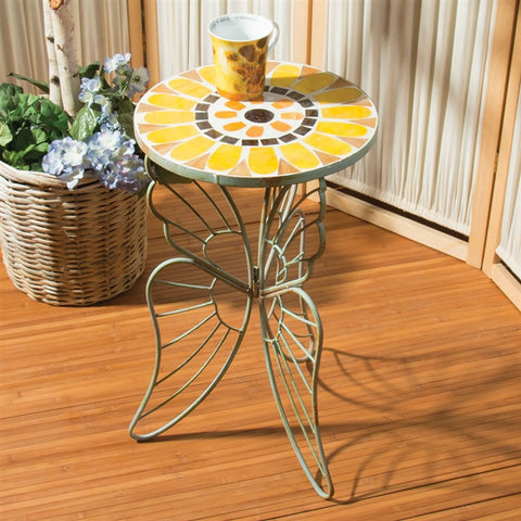 Mosaic Sunflower Side Table