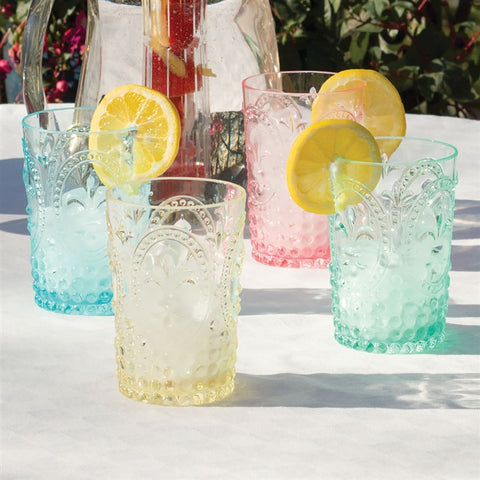 Country Cottage Embossed Acrylic Tumblers (NB)