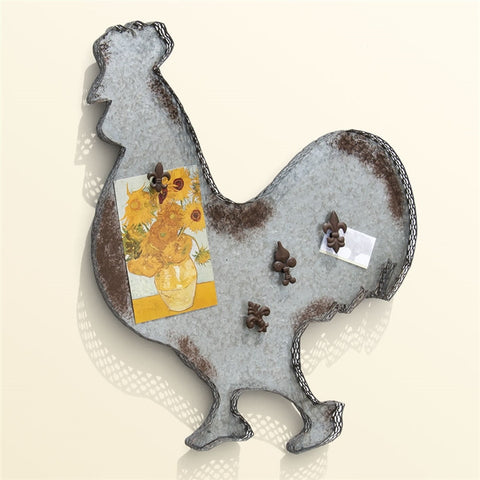 Galvanized Tin Rooster Wall Decor