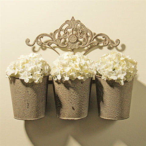 Fleuris Triple-Pail Wall Planter