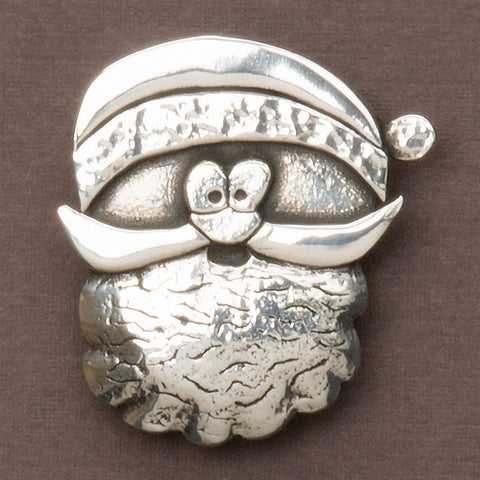 Cornish Pewter Santa Brooch (NB)