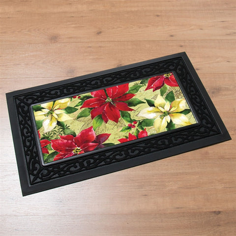 Switchmat Doormat Watercolor Pointsettias Insert (NB)