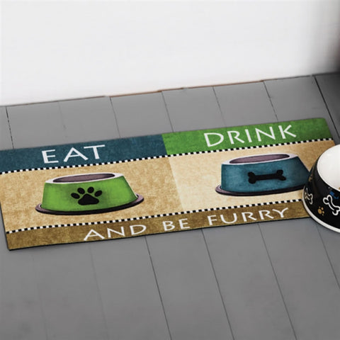 Switchmat Doormat 'Eat Drink & Be Furry' Insert