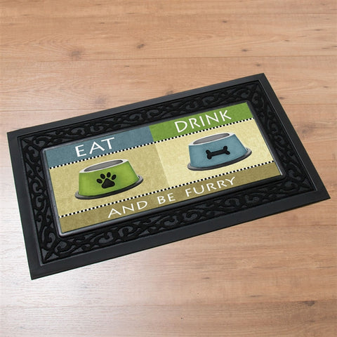 Switchmat Doormat 'Eat Drink & Be Furry' Insert (NB)