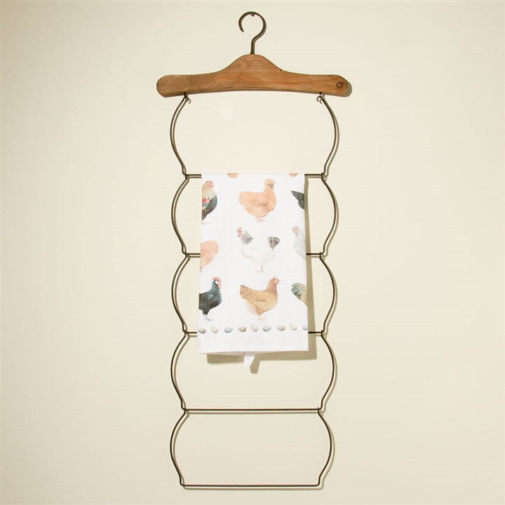 Old Fashioned Linens & Scarves 'Ladder' Rack (NB)