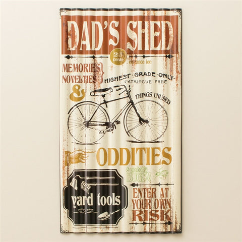 Dad's Shed Corrugated Metal Sign