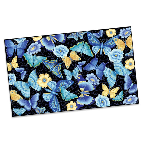 Blue Butterflies Welcome Mat