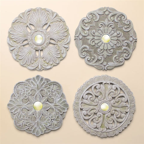 Mirrored Vintage Wall Medallions