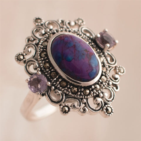 Minerva Silver Filigree Ring