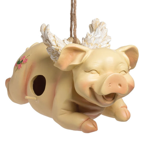 Angelic Flying Pig Birdhouse