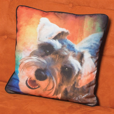 Hooter the Schnauzer Pillow