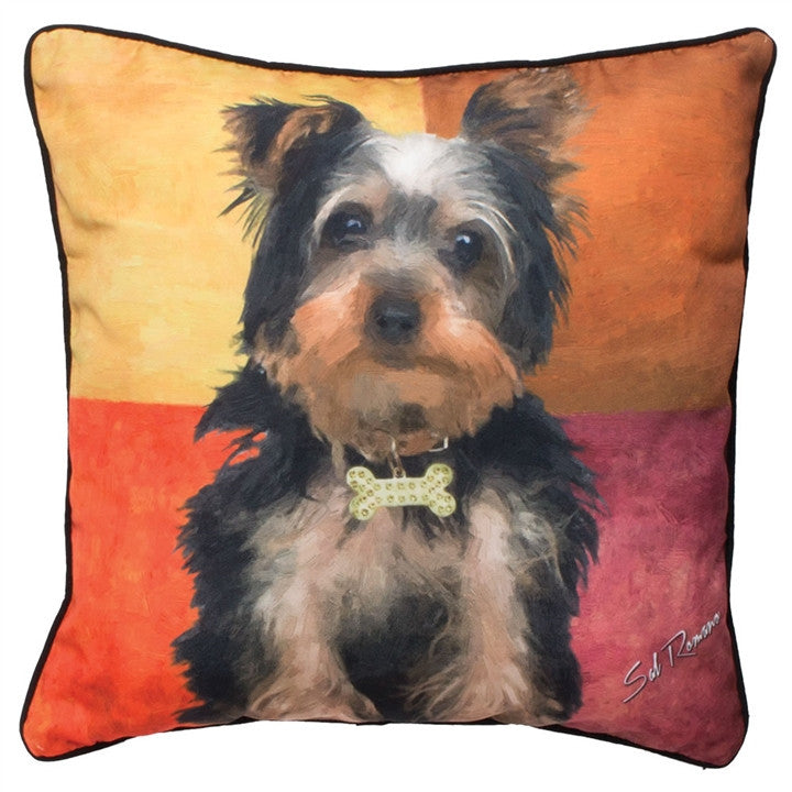 Stewie the Yorkie Pillow at Linda Anderson