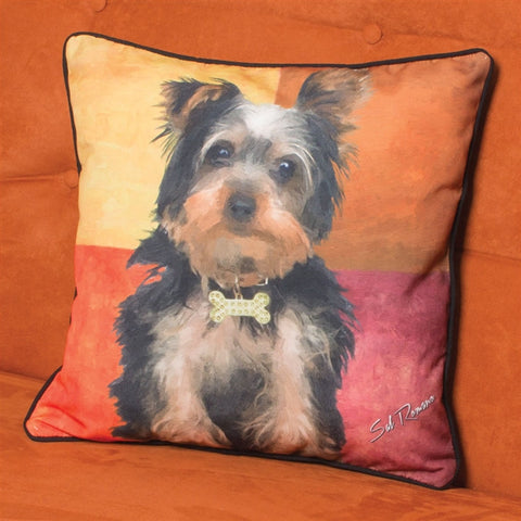 Stewie the Yorkie Pillow