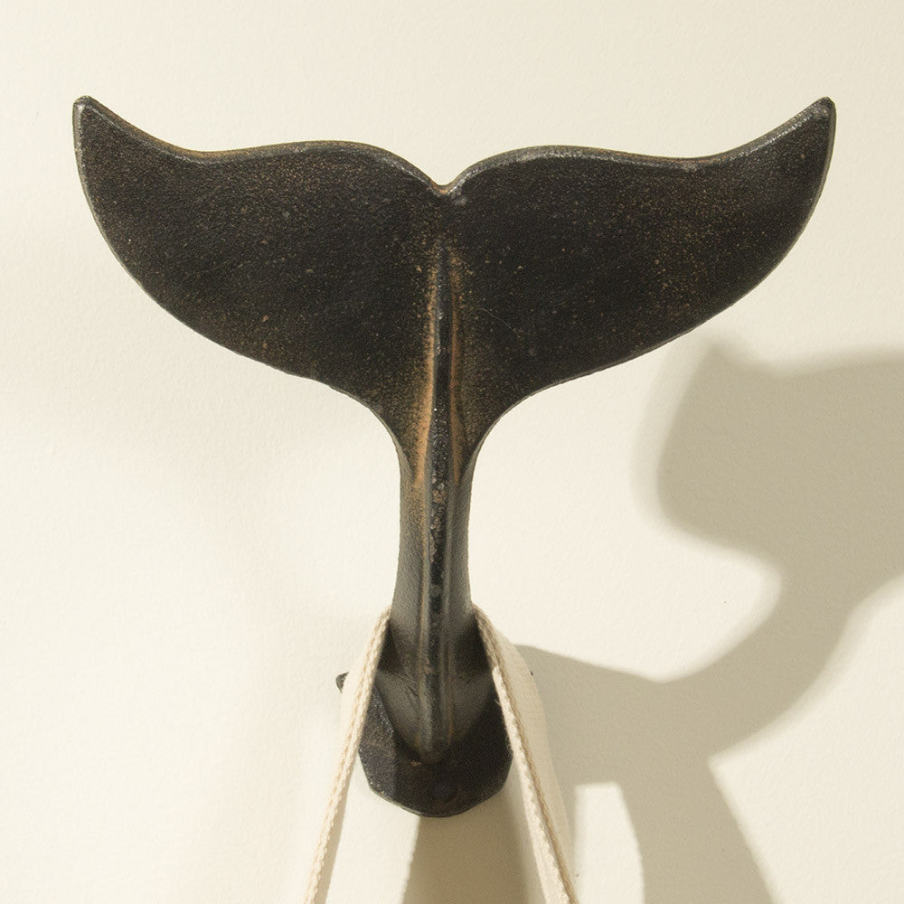 Whale Tail Wall Hook & Sculpture (NB)