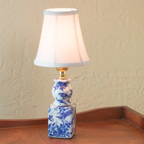 Blue Willow Powder Room Lamp