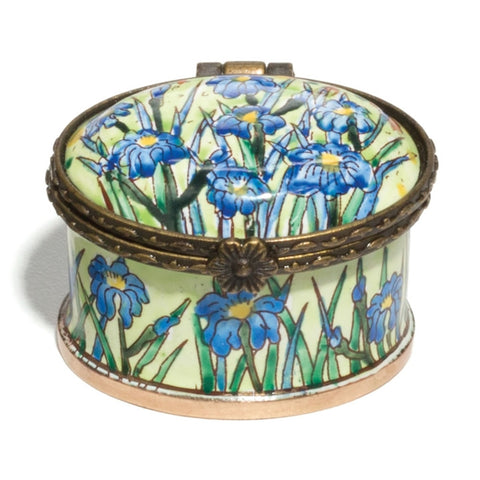 Van Gogh Iris Field Enamel Mini Trinket Box