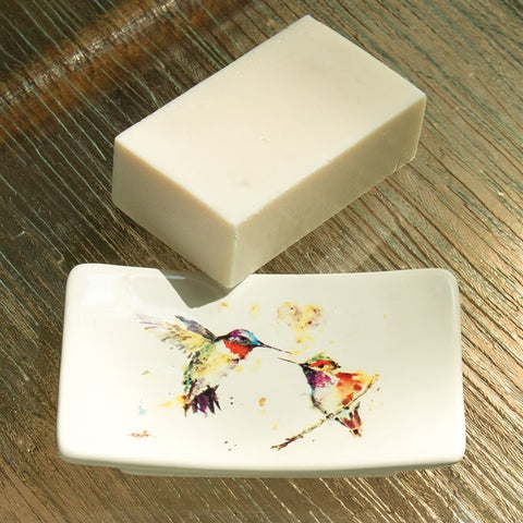 Hummingbirds Soap Dish Gift Set