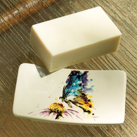 Butterfly Soap Dish Gift Set
