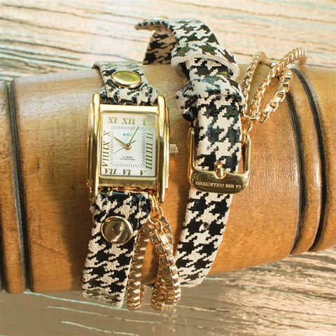 La Mer Houndstooth Triple Chain Watch (NB)