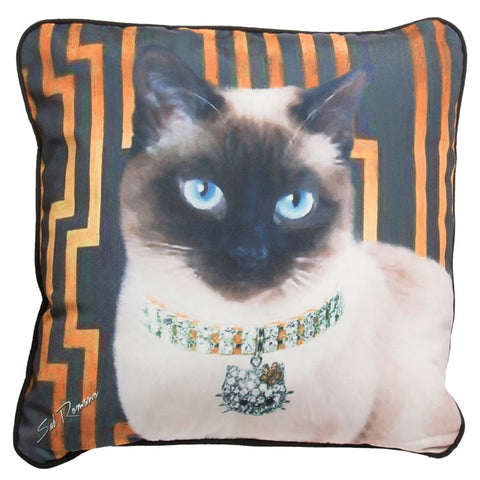 Siamese Princess Cat Pillow
