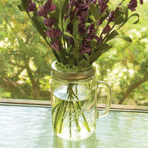 Mason Jar Top Flower Frog