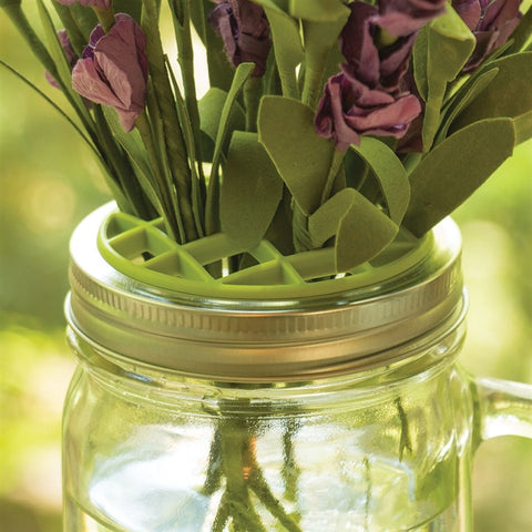Mason Jar Top Flower Frog (NB)