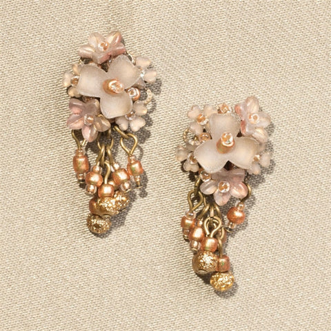 Golden Flowers Earrings (NB)