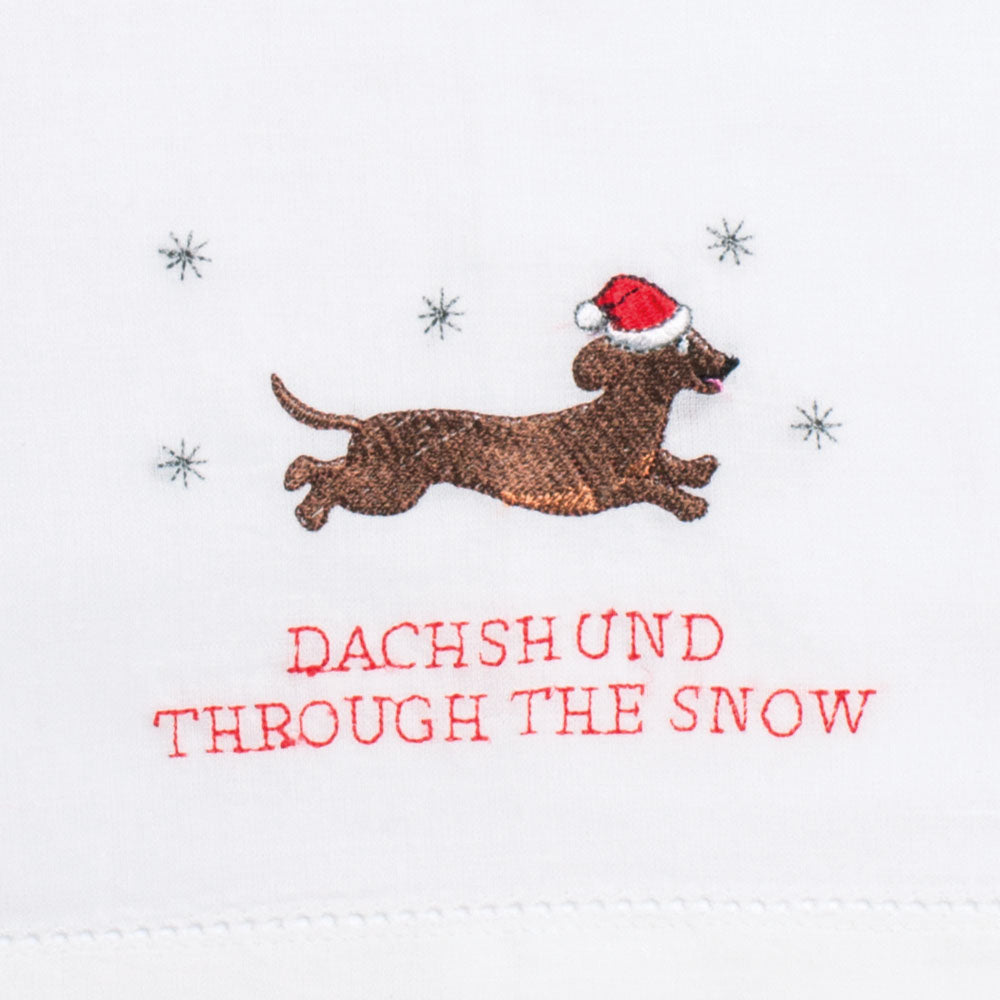 Dachshund Through The Snow Guest Towel/Napkin