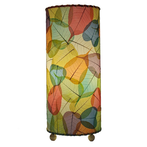 Banyan Leaves Cylinder Table Lamp