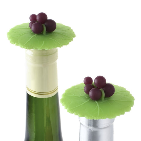 Grape Leaf Silicone Bottle Stopper