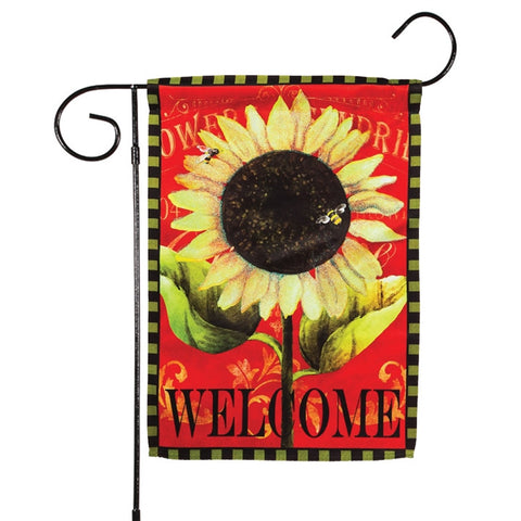 Sparkling Sunflower Welcome Garden Flag (NB)