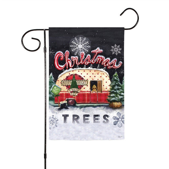 Christmas Tree Lot Two-Sided Garden Flag (NB)