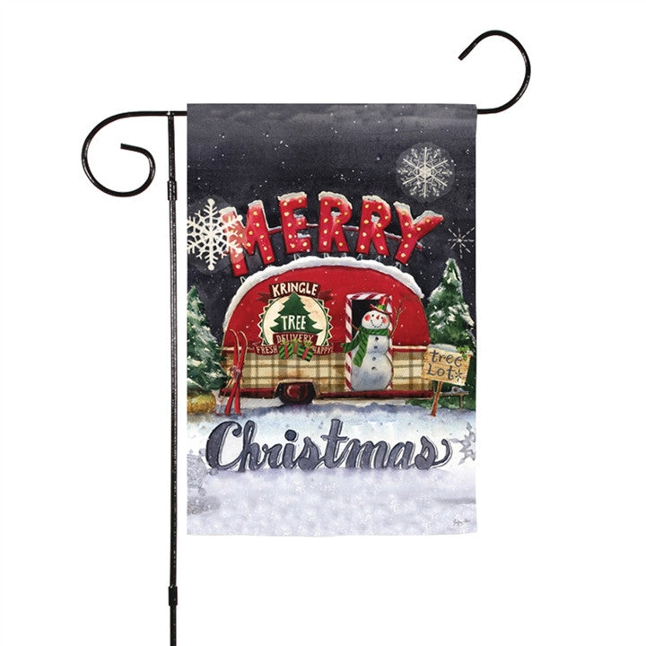 Christmas Tree Lot Two-Sided Garden Flag