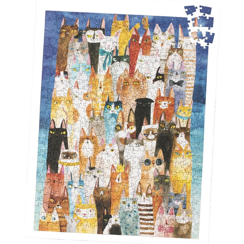 Colorful Cats 500 Piece Puzzle (NB)
