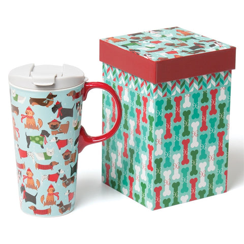 Festive Fidos Travel Mug Gift Set (NB)