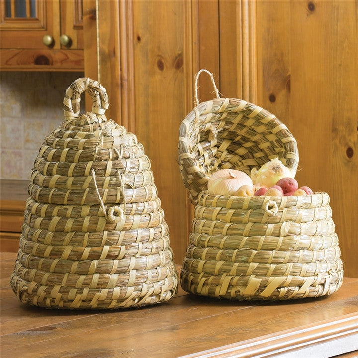 Bee Skep Lidded Basket