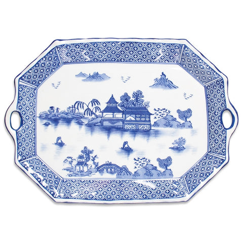 Blue Willow Pattern Ceramic Tray