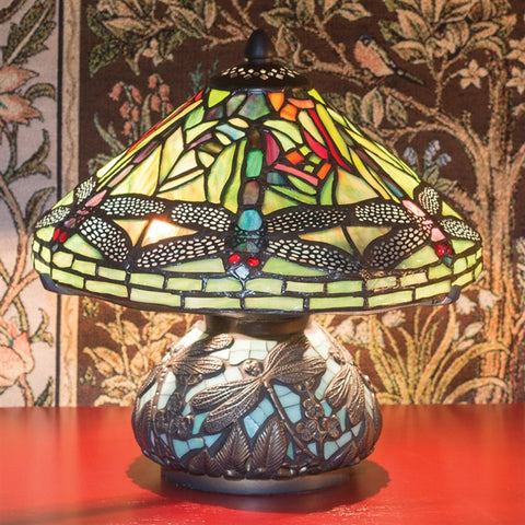Dragonfly Dance Stained Glass Lamp (NB)