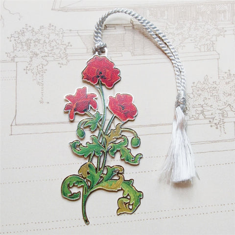 Red Poppies Bookmark (NB)