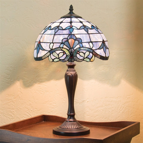 Victorian Blossoms Stained Glass Lamp
