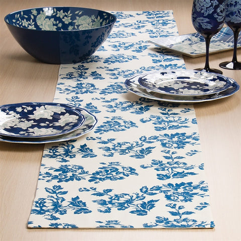 In The Blue Table Runner