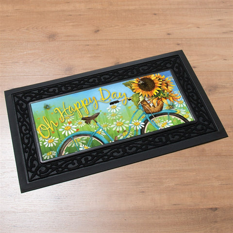 Switchmat Doormat Sunflowers 'Happy Day' Insert