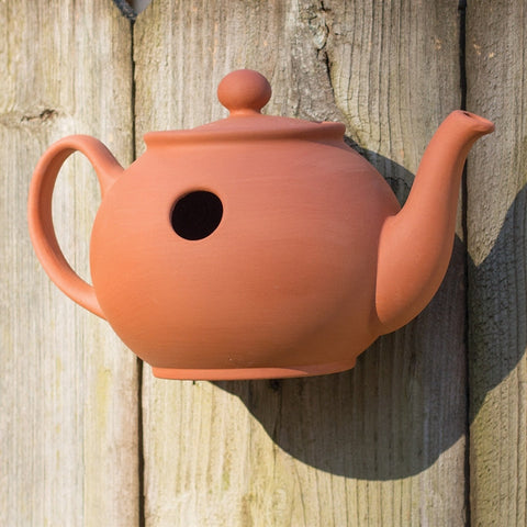 Terracotta Teapot Wall-Mounted Nesting Box (NB)