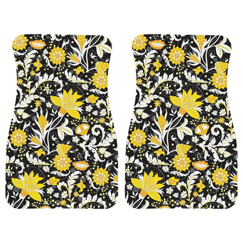 Parisian Floral Car Mat Pair