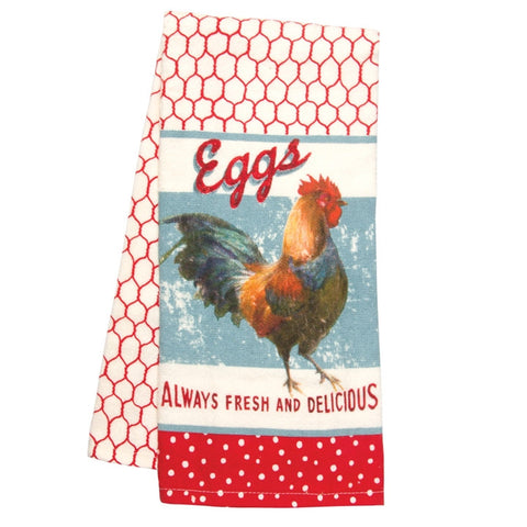 Nostalgic Rooster Kitchen Linens, Set of 4