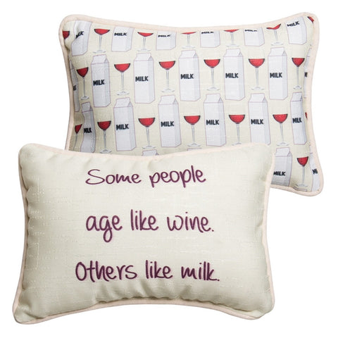 Age Like Wine Pillow