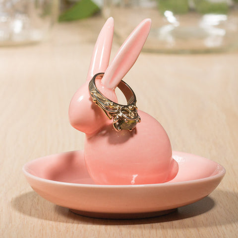Bounding Bunny Ring Holder