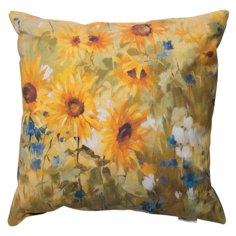 Sunflower Fields Indoor/Outdoor Pillow