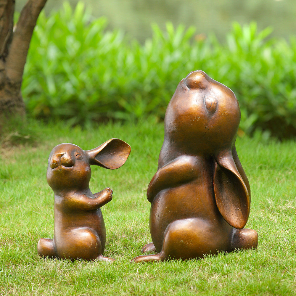 Laughing Rabbits Large Garden Figurines (NB)